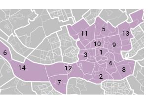 Alle wijken in Rotterdam